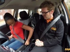 Ebony teenage with sizeable and saggy bra buddies fucked in car