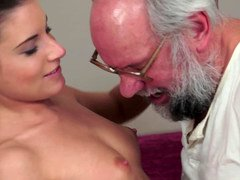 Mature fella has his way with a kinky small 18-19 y.o. with puffy nipples