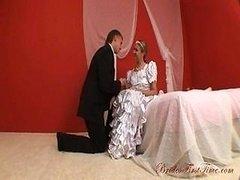 Sweet Bride Helen During Her Wedding Night