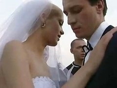 Bride Fucked Outdoors By Multiple Guy!