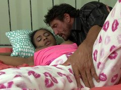 Black 18-19 y.o. Jazzy Jamison fucked by older white dick