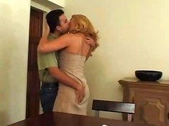 Sexy Blonde Old In Pantyhose Loves Ma...