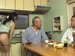 Taking care of her elderly boyfriend