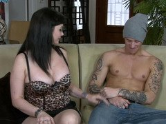 Immature tattooed lad makes love his mother in law to orgasm