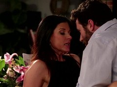 Bearded lad with a magic meat pole gets down and dirty a naughty stepmom so hard