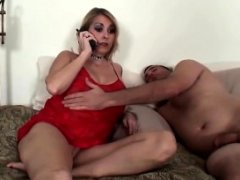Pantyless mom taboo fuck