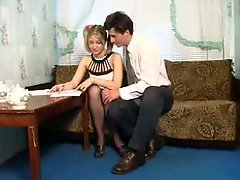 Teenage broad have an intercourse on pantyhose