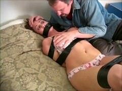 Nina Neon Groped by the Gardener