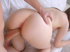 Pure beauty Maya Kendrick fucked in her unshaved pussy