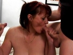 Old whore cougar love pole fucked to climax