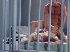 Jail house pounding of naughty blonde Nina Elle