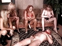 These sluts make him beg and additionally crawl