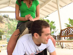 Sexy farm girl rides her lad and moreover then he rides her sexy tooshie