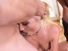 Vanessa gang-fuck double ripping double rectal cum swallow