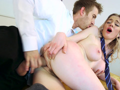 Serious teacher becomes insane sex partner for his student broad