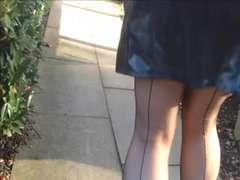 Seized seamed stockings from axa22