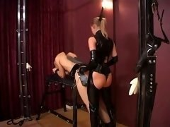 Woman Stella and besides Silvia banging Slaves
