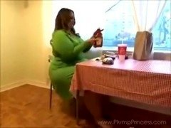 Porky Princess Fast Food Feast (BBW fastfood stuffing)