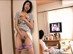 Big breasted Japanese sexually available mom with sexy legs is longing for a
