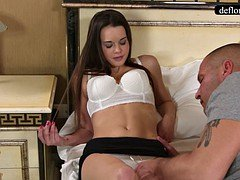 Defloration - a skillful takes Mirella's virginity