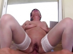 Mature mother gets anal sex from lucky son