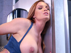A brunette that has a sizeable booty and furthermore some nice breasts is getting fucked