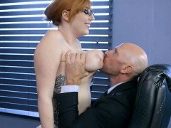 Hot Paralegal Lauren Phillips Gets Bent Over By Lawyer