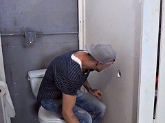 Bathroom Glory Hole teenage Gives bj off Big Penis