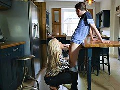 Youthful man fucks his girlfriends blonde Mom i`d like to fuck stepmom