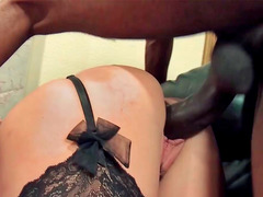 Black aroused thug finds a flawless milf's vacant hole