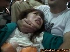 Cute Oriental Gal Attacked On A Bus Ride Fraction6
