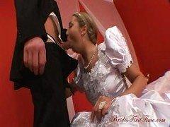 Attractive Bride Helen During Her Wedding Night