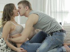 Alluring Russian darling knows how to satisfy her well hung man
