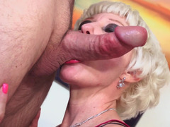 Short haired blonde granny needs a sizeable meat pole at current time