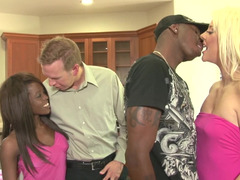Swinger party by interracial couples that want to try new things
