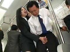 Asiatic Handjob In Bus