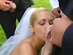 Bride in public fuck after wedding