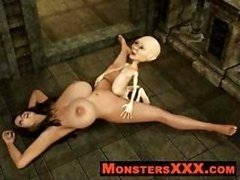 Horrible 3d Creatures getting down and dirty innocent broads