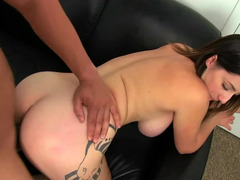 Brunette removes her bra and additionally panties at a actually hot audition