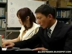 Breasty Far eastern Teacher Fondled And...