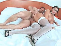 Christina Jolie receiving massive wiener in her tight meaty cunt