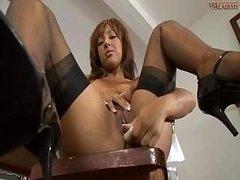 Lady In Stockings Kayla Gets Break Time Pleasures