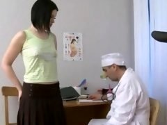 Naughty doctor perverts shy visitor