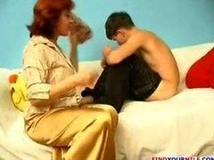 Mature mom and besides son 001