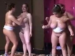 bigtitted women of oil wrestling
