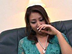 Nana Nanami Asiatic gets many vibrators on body from masked fe