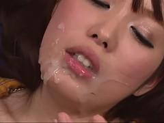 lovely jap hoe moe sakura is buzzed and face jizzed