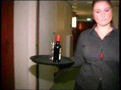 Rotund Dutch Hotel Maid