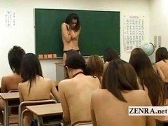 Shy undressed in school Japan schoolgirls and plus eager mom teacher