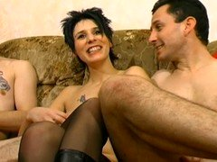 French floozy in boots cuckold A75